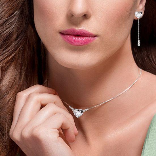 Preciosa Eleganckie srebroKolczykiserca z czeskim kryształemPreciosa ZLove 6145 00