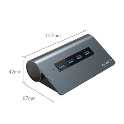 Orico M3H-6N USB-C priključna postaja, 11 v 1