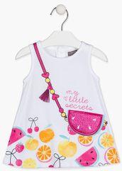 Losan dívčí šaty 118-7003AL 80 bílá