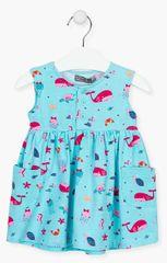 Losan dívčí šaty 118-7005AL 68 modrá