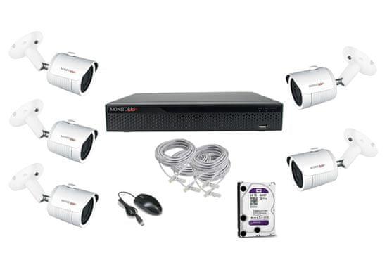Monitorrs Security STARVIS IP 5 kamerový set 2 Mpix Tube
