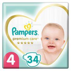 Pampers pieluchy Premium Care, rozmiar 4, 34 szt., 9-14kg