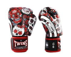Twins Bokszkesztyű TWINS SPECIAL FBGVL3-53 SKULL - piros / fekete
