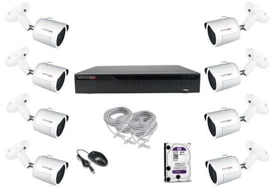 Monitorrs Security Standard IP 8 kamerový set 2 Mpix Tube