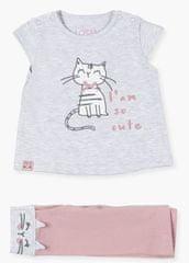 Losan dívčí set trička a legín 11W-8004AL 53 - 56 šedá