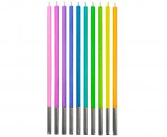 """GoDan Dortové svíčky """"PARTY"""" barevné 10 ks"""