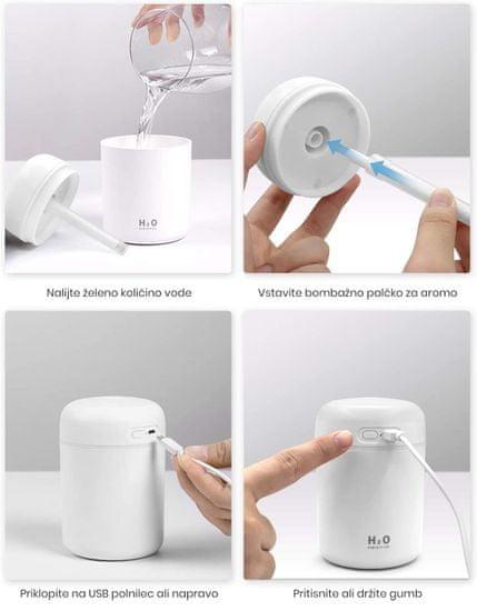 DeluxeCare vlažilec zraka z LED lučko H2O, bel