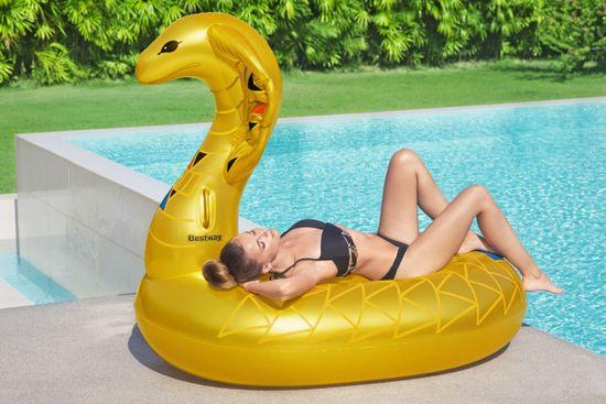 Bestway 41445 napihljiva kobra z držali, 173 x 91 cm, zlata