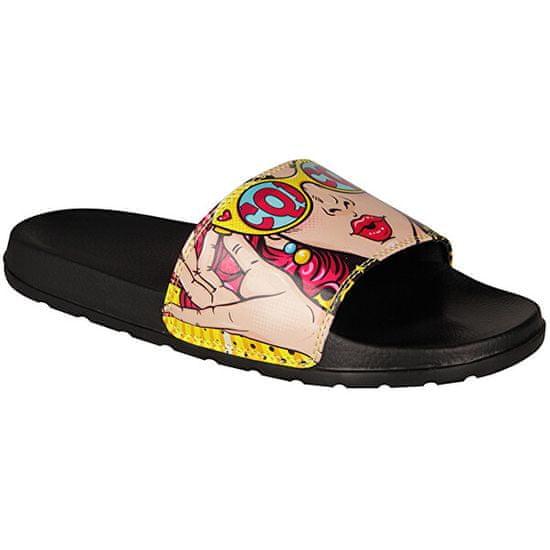 Coqui Dámské pantofle Cleo Black/Wow 7062-234-2200
