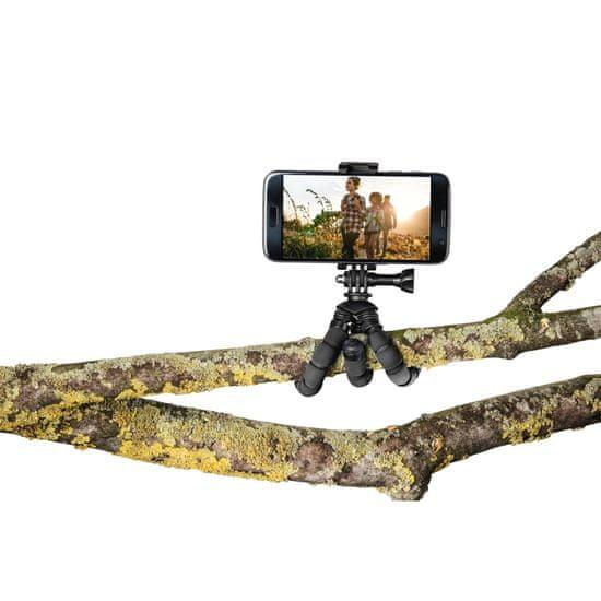 Hama Flex mini foto stojalo za pametni telefon/GoPro, 14 cm, črno