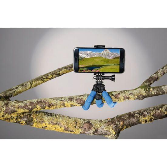 Hama Flex mini foto stojalo za pametni telefon/GoPro, 14 cm, modro