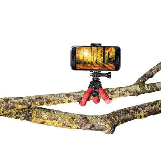 Hama Flex mini foto stojalo za pametni telefon/GoPro, 14 cm, rdeče