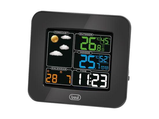 Trevi ME 3165 RC brezžična vremenska postaja, barvni zaslon, 2x alarm, radijska ura