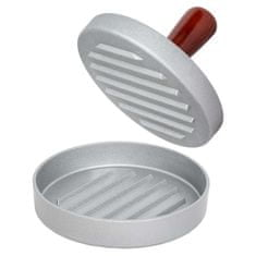 tectake Tvořítko na hamburgery jednoduché - hnědá/šedá