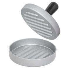 tectake Tvořítko na hamburgery jednoduché - černá/stříbrná