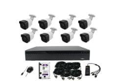 Monitorrs Security AHD 8 kamerový set 5 Mpix Tube Plast, vestavěné