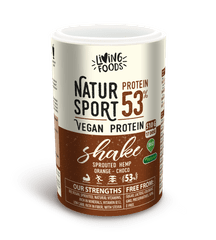 Living Foods Sport Vegan Protein Shake Orange Chocolate 510g. Superpotravina vhodné aj pre bielkovinové aj keto diéty s oranžovou - čokoládovou príchuťou.