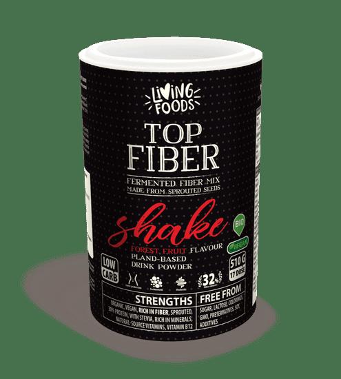 Living Foods Fiber Star Shake lesné plody 510g - biologicky hodnotná směs fermentovaných vláken, superpotravina pro dokonalou střevní flóru