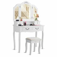 Timeless Tools Tükrös fésülködő asztal székkel több típusban-Paris-fekete