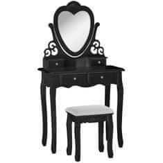 Timeless Tools Tükrös fésülködő asztal székkel több típusban-London-fekete