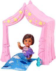 Mattel Barbie Příběh z deníku chůvy Růžový stan