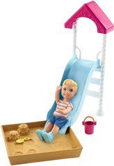 Mattel Barbie Příběh z deníku chůvy Skluzavka