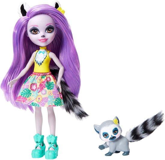 Mattel Enchantimals Larissa Lemur in Ringlet lutka in ljubljenček