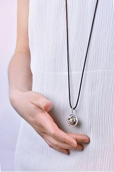 MummyBell Damskinaszyjnik dzwonek brązowy Wiadomość K10PH18
