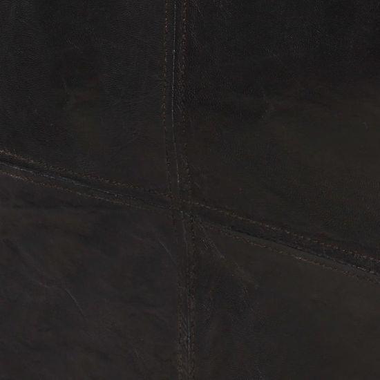 shumee 2 sedežni kavč Črno naravno usnje