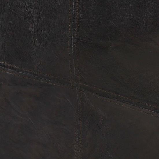 shumee 3 sedežni kavč Črno naravno usnje