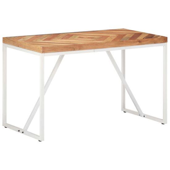 shumee tömör akác és mangófa étkezőasztal 120 x 60 x 76 cm