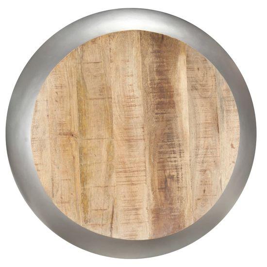 Greatstore Konferenčný stolík sivý 68x68x30 cm masívne mangovníkové drevo