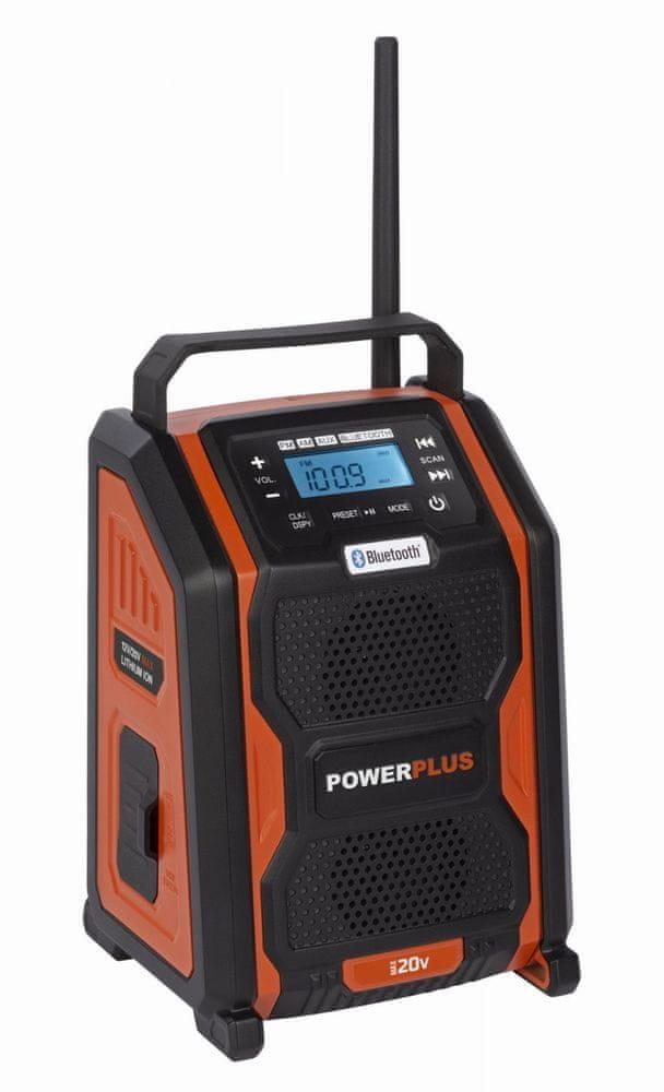 PowerPlus POWDP8060 - Aku rádio 20V plus 220V (bez AKU)