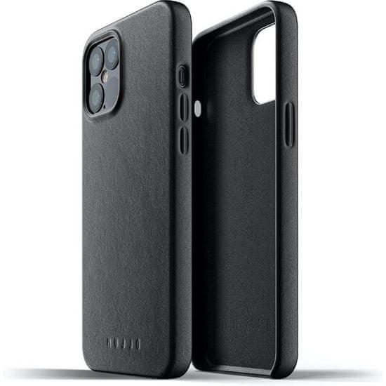 Mujjo Full Leather Case zaščitni ovitek za 12 Pro Max, usnjen, črn (MUJJO-CL-009-BK)