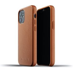 Mujjo usnjeni ovitek Full Leather Case zaiPhone 12 mini MUJJO-CL-013-TN, rumeno-rjav