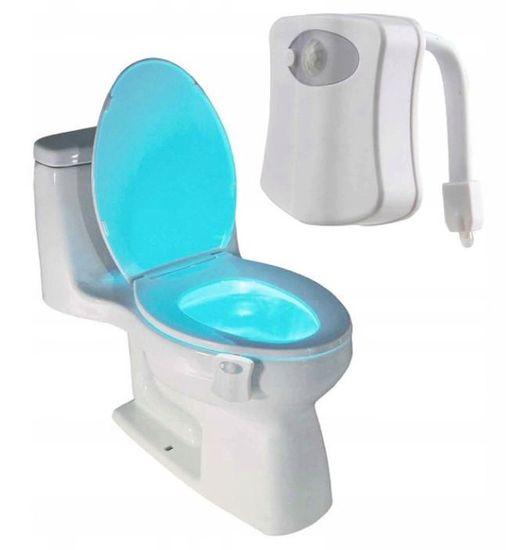 nočna LED lučka, senzor za WC, 8 barv
