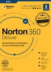 Norton 360 Deluxe - 5 zařízení | 50 GB zabezpečené cloudové úložiště | 1 rok | Android, PC, Mac - Elektronická licence