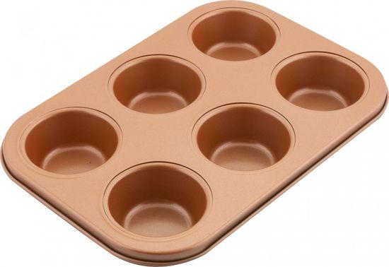 Lamart Forma na 6 muffinů COPPER LT3091 26,5 × 18 cm, měď