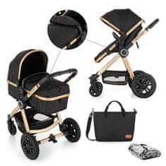 Petite&Mars Kočárek kombinovaný 2v1 Grand II Golden Ebony 2020