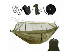 Viseča mreža za kampiranje 260 x 140 cm, za eno osebo, nosilnost do 190 kg T-238