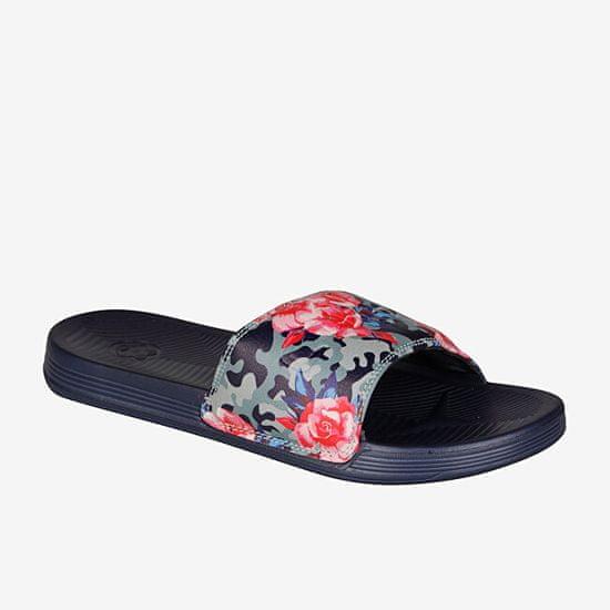 Coqui Dámské pantofle Sana NAVY CAMO ROSES 6343-217-2100