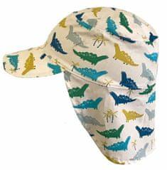 Yetty letní chlapecká kšiltovka s ochranou krku – Dino LB 378/3 S smetanová