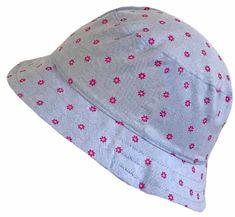 Yetty Lány kalap rózsaszín virágokkal LB 549, L, kék