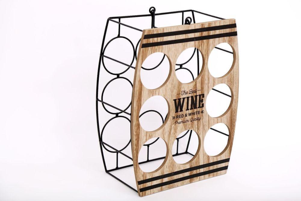 Sifcon Stojan na víno - na 8 ks lahví vína, 38 x 30 cm