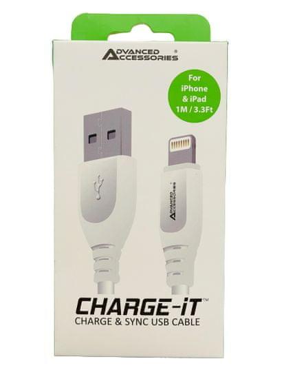 Lightning kabel CHARGE- iT pro apple iPhone / iPad / iPod 1m