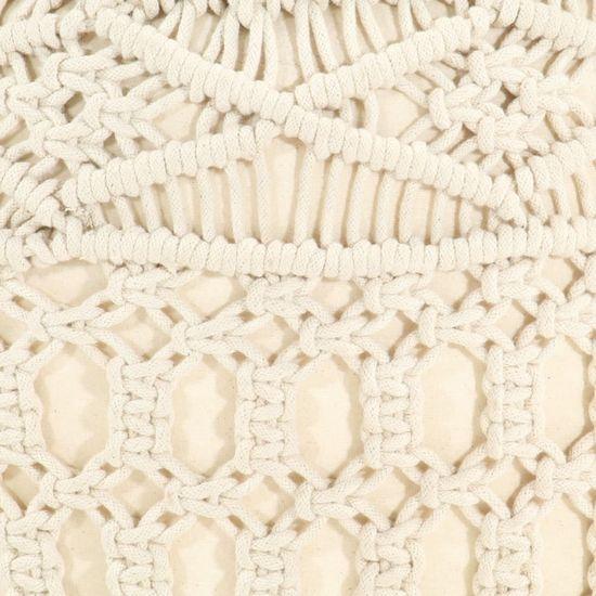 shumee Ręcznie robiony puf z makramy, 45 x 30 cm, bawełna