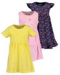 Blue Seven dívčí 3pack šaty 721599 X 92 vícebarevná