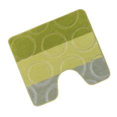 Brotex Předložka před WC 60x50 cm Kroužky, zelené