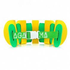AGAMA Plavecký pás SWIM (13 dielov / do 26 kg) žltá/zelená