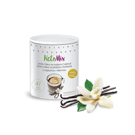 KetoMix Instantní káva na podporu hubnutí s příchutí vanilky 94 g